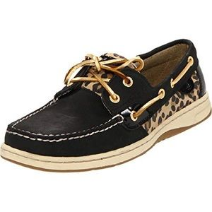 Sperry Top Sider Black with Animal Print